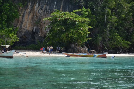 the hidden white sand beach..