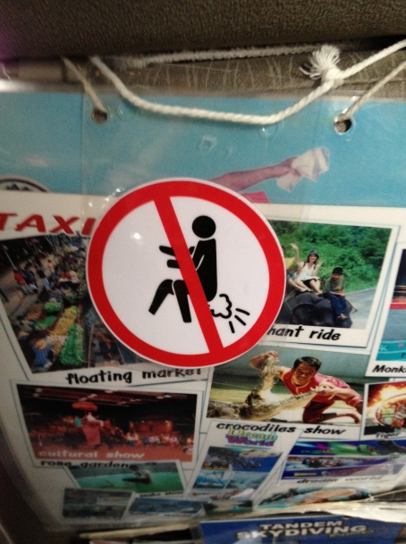 do not fart in my cab !!!