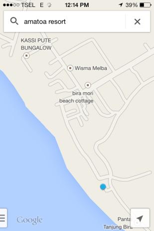 screen shot lokasi Amatoa Resort
