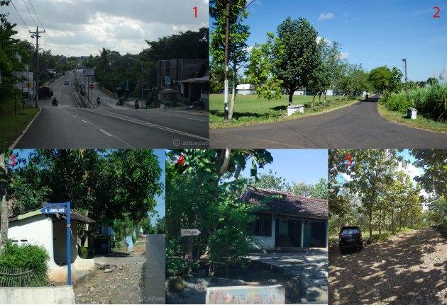 rute jalan ke Gua Jomblang