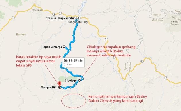 gambaran perjalanan kami - jangan percaya waktu tempuh google maps