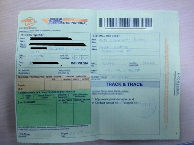 formulir EMS yang harus diisi